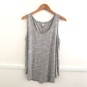 Old Navy Luxe XL Swing Tank Gray Comfy Stretch tee